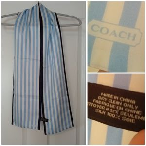 Striped Coach silk scarf excellent condition. One